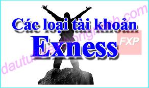 Các tài khoản giao dịch exness